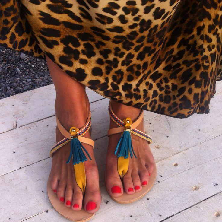 Sandals with tassels www.annamavridis.com