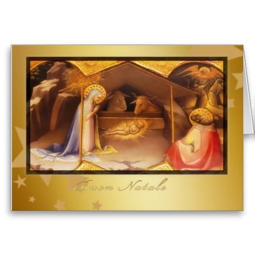 Buon Natale, Merry christmas in Italian, Greeting Cards