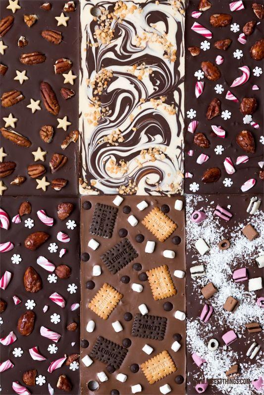DIY Schokoladenriegel mit bedrucktem Band: Last Minute Geschenk | Die schönsten Dinge …   – Sweets