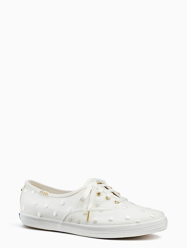 1f8f1703d3fa keds x kate spade new york champion sneakers - white polka dot wedding shoes