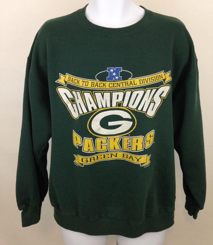 Vintage Green Bay Packers Sweatshirt Size L, Vintage NFL Sweatshirt, 90s Green Bay Packers Central Division Champions, Lee Sport Sweatshirt by UniqueTreasuresPA on Etsy