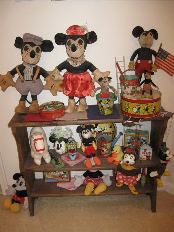 Old Mickey Mouse toys.