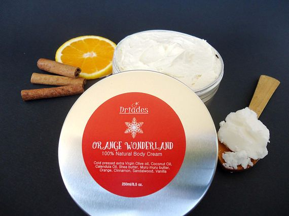 Organic body butter. Silky soft skin nourishing body cream. All natural vegan ingredients. Birthday present for wife and girlfriend. Green beauty gift basket ideas under 30€. Stocking stuffers for mom, sister and daughter  Secret Santa gifts for coworkers. Handmade with love by #Driades. #veganskincare #bodybutter #bodycream #bodylotion #organicskincare #natural #beautyproducts #herbal #botanical #giftsformom https://www.etsy.com/listing/550560004