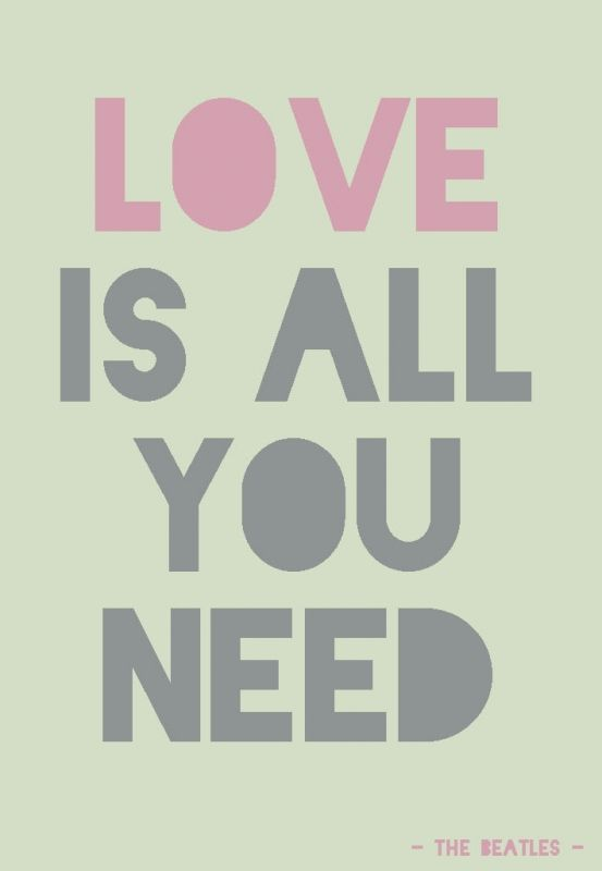Inktvis: TXT012 - Ansichtkaart - Love is all you need   Studio Inktvis   kaartfanaat