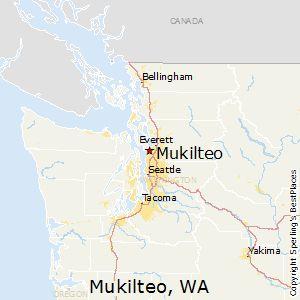 Mukilteo,Washington Map I love living here!