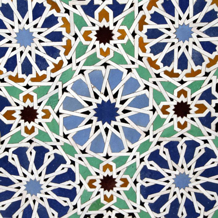 "Moroccan ""Zuleij"" tilework."