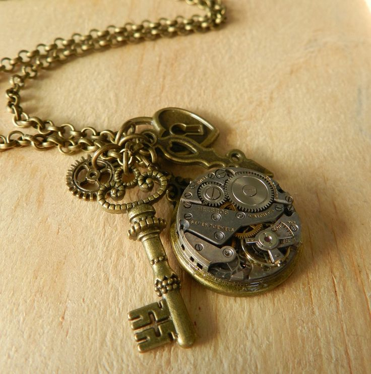 Image of Gorgeous Steampunk Inspired Charm Necklace