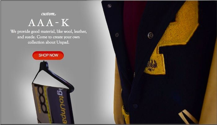 Triple A-K provides good material, like wool, leather, and suede. Come to create your own collection about Unpad.