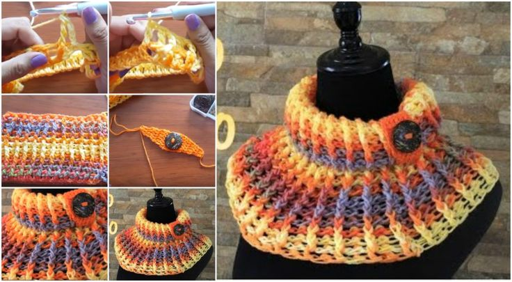 Crochet Rainbow Cowl [Cuello Tejido] – Tutorial – Craft-Addicts