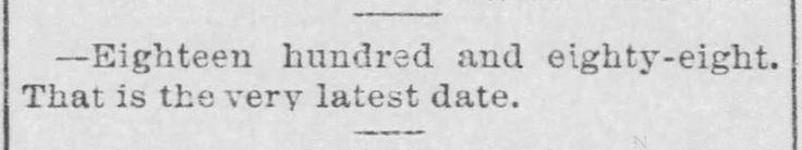 (source: The St. Joseph Gazette-Herald, January 1, 1888.)