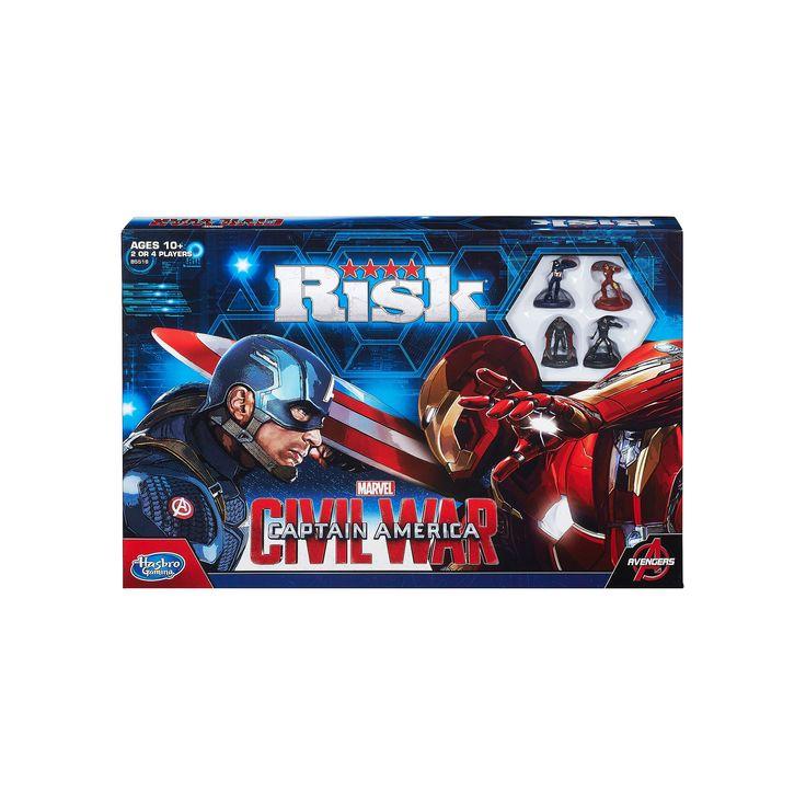 Risk: Captain America: Civil War Edition Game, Multicolor