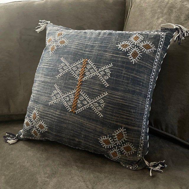 Moroccan Silk Inspired 12 X 20 Linen Pillow Cover Cactus Silk Hand made Cushion Sofa Couch Pillow Modern Pillow Home Decor Pillow Cover
