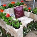 concrete cinder blocks planter wall - LightHouseShoppe.com
