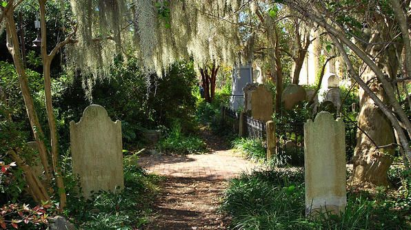 Haunted Charleston: Unitarian Church Graveyard. This overgrown cemetery is the home of the ghost of Annabel Lee, the subject of Edgar Allan Poe's famous poem of ...
