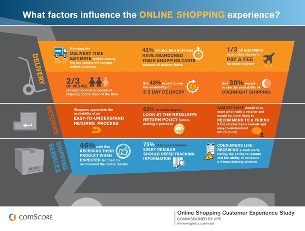 What factors influence online shopping experience ?