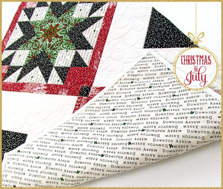 Downton Abbey Christmas Star Table Runner: Christmas in July with Fabric Depot   Sew4Home