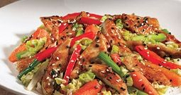 SESAME CHICKEN SALAD BJ's Brewhouse Sesame Copycat Recipe  Serves 1  2 cups Napa cabbage, shredded