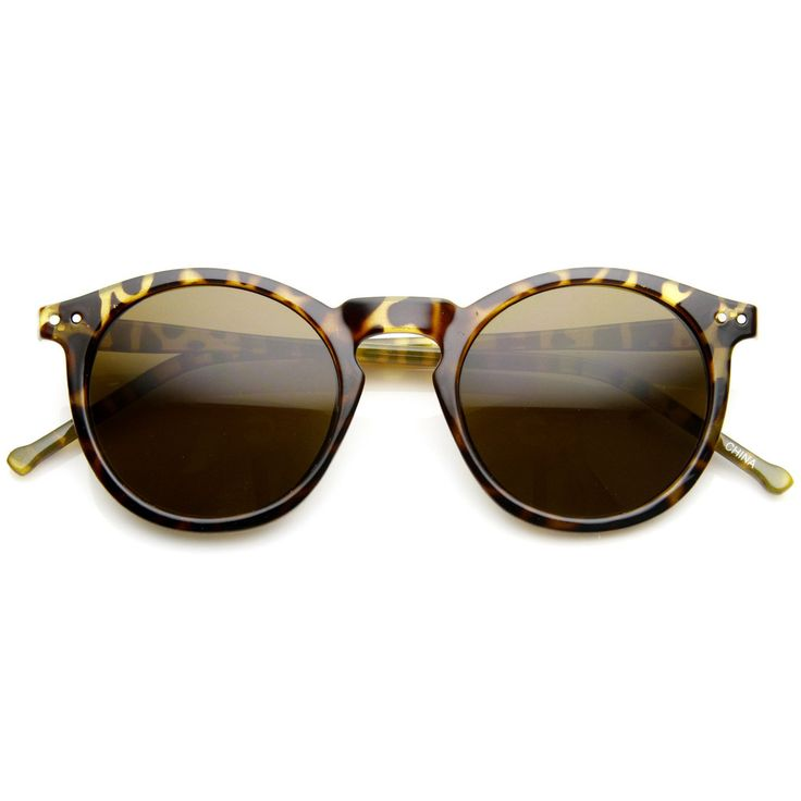 Dapper Key Hole Vintage Horned Rim Round Circle Indie Sunglasses 8943 | zeroUV