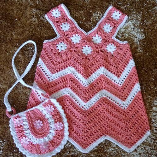 Pink Summer Dress & Small Purse