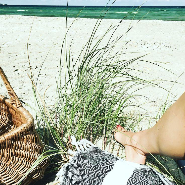 Hamam håndklæder fra VIIL med på strandtur.  VIIL hamam towels beachin.