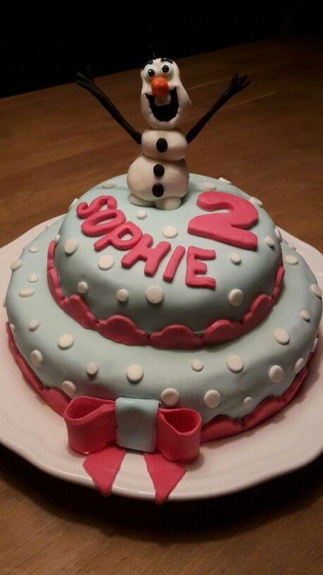 Fondant-taart-Frozen-Olaf