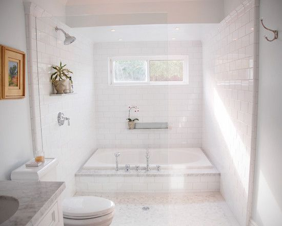 All white everything. Visit the RH Homes website at www.rhhomeslimited.com to learn how to start your very own #shower #remodeling project in #Columbus, OH.