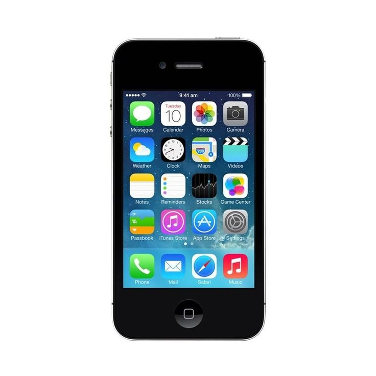 Unlocked Apple - Refurbished iPhone 4S with 16GB Memory Cell Phone - Black