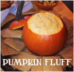 Fall perfect pumpkin fluff dip, easy fall recipe, perfect party treat