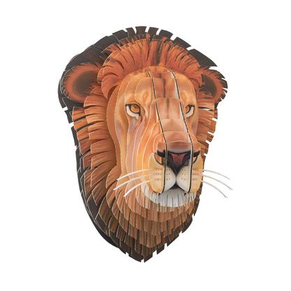 This Lifelike print on Leon the Cardboard Lion will bring you closer to nature. Leon is made of environmentally friendly, recycled cardboard.