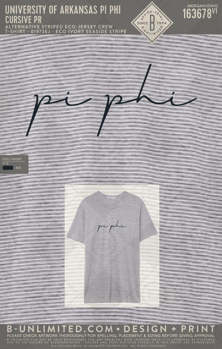 Pi Phi cursive t-shirt! #BUonYOU #greek #greektshirts #greekshirts #sorority #PiBetaPhi