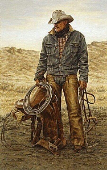 Morris McCarty, working cowboy