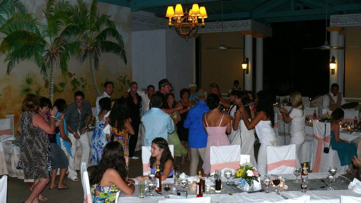 The Pool restaurant was converted into a beautiful ceremony to celebrate the wedding