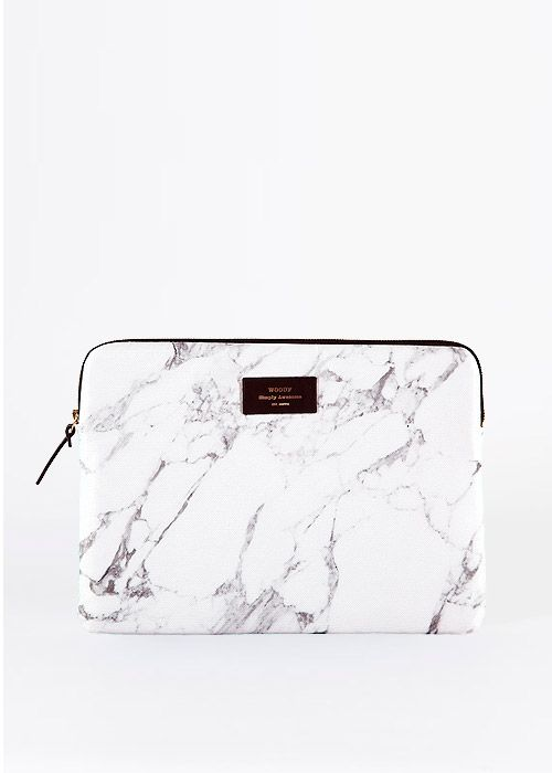 White Marble Macbook Sleeve