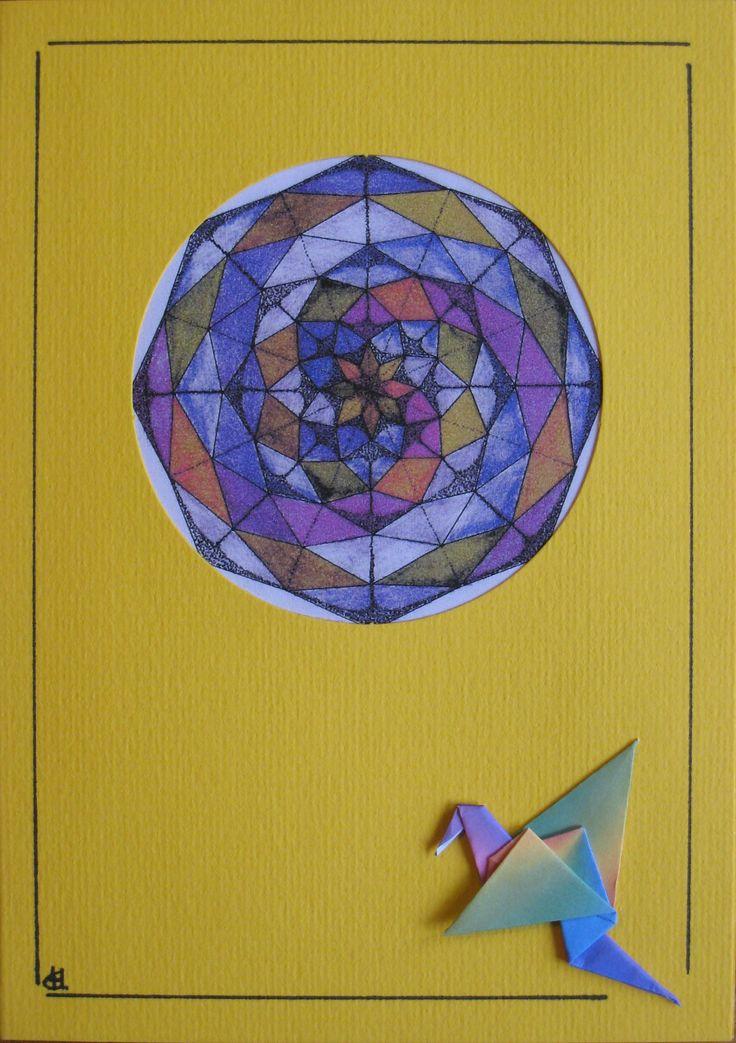 Mandala en origami