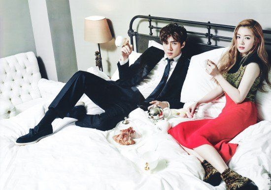 Sehun and Irene are in love in more, hot 'CeCi' photos + interview video | allkpop
