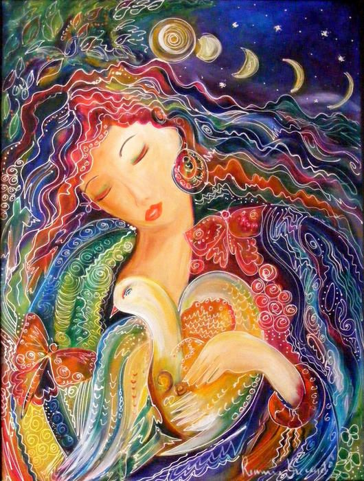 Goddess of Air Painting by Ronnie Biccard - Goddess of Air Fine Art Prints and Posters for Sale
