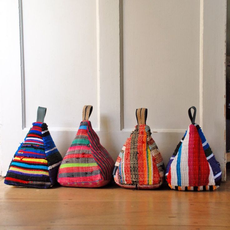 fabric door stops upcycled heavy weights hen and hammock