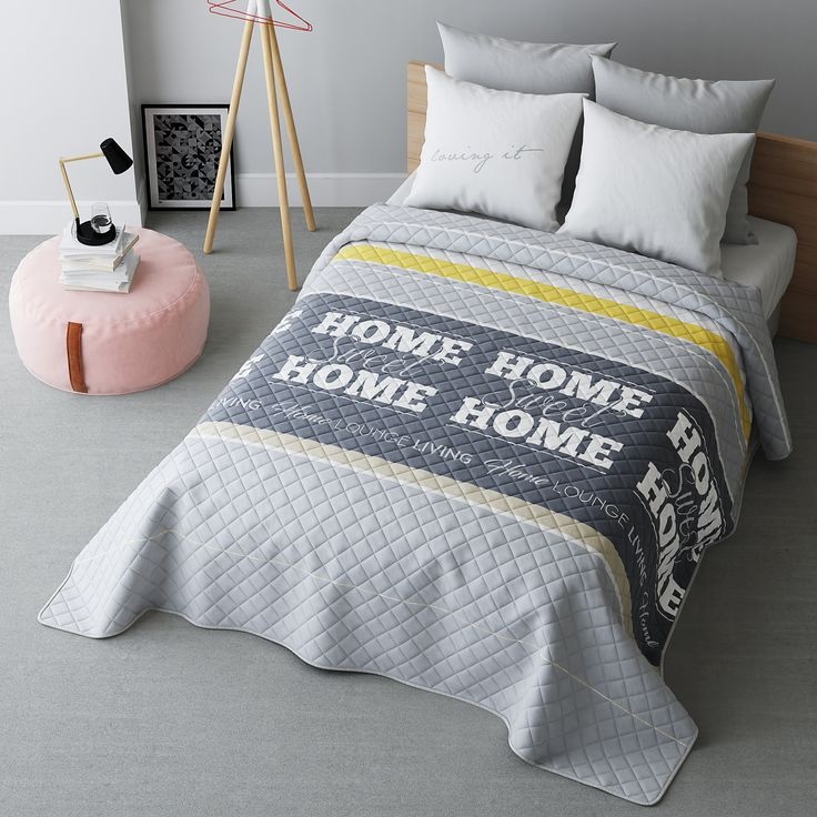 Home prehoz na posteľ s prešívaním