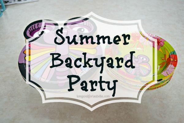 summer backyard party #epicday #sponsored