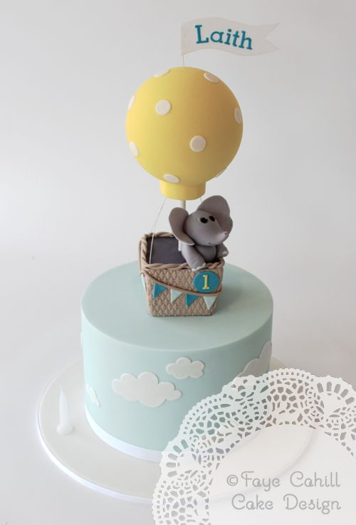 Elephant in a Balloon by Faye Cahill Cake Design
