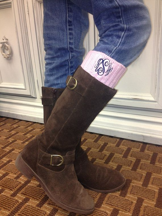 Monogrammed Boot Socks by thepalmgifts on Etsy