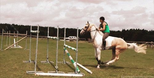 I love riding, and especially jumping, but for some reason, i freez and get super scared jusr before the jump. How can I stop this and move on to jumping bigger fences???