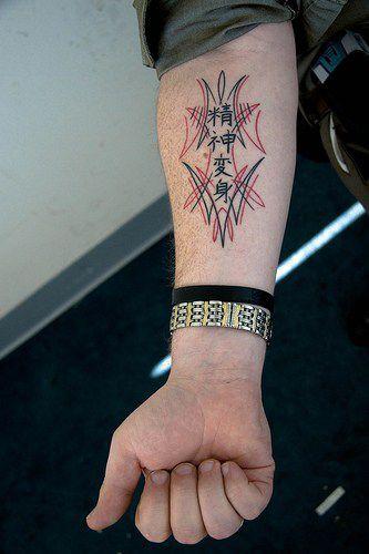 tatouage avant bras homme japonais