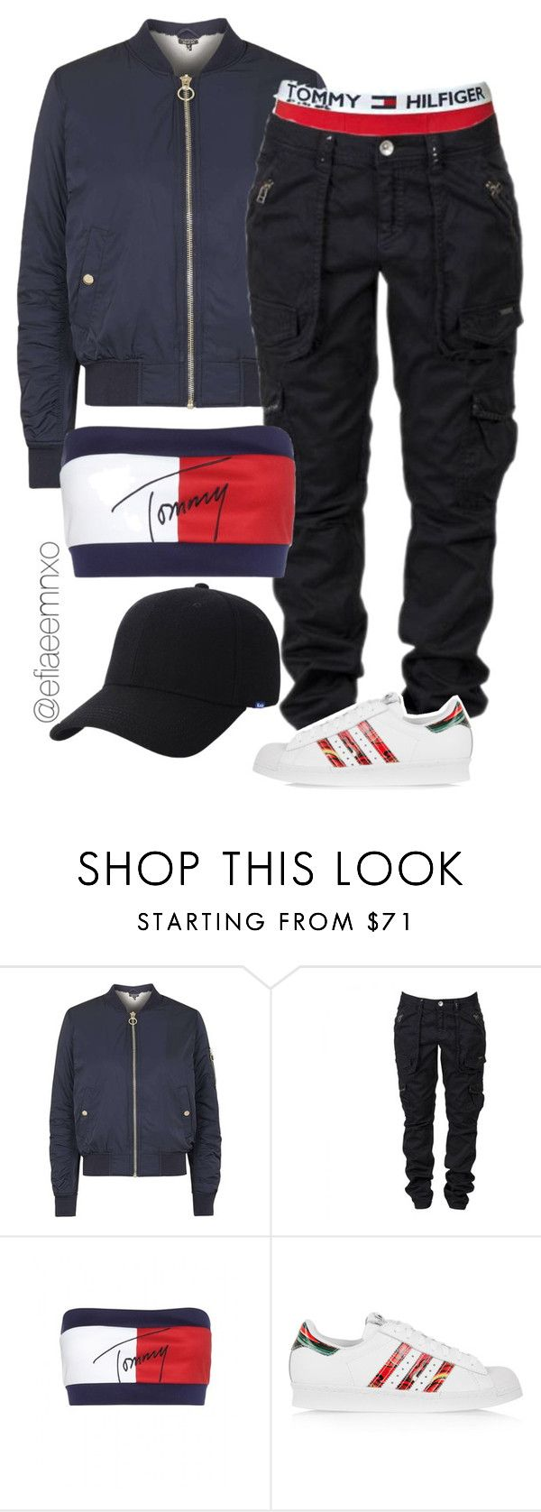 """Homage to Aaliyah"" by efiaeemnxo ❤ liked on Polyvore featuring Topshop, Tommy Hilfiger, adidas Originals, Keds, adidas, tommyhilfiger, aaliyah, sbemnxo and styledbyemnxo"