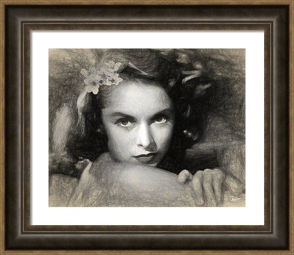 #Janet #Leigh Framed Print By Quim Abella