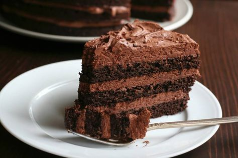 Chocolate Layer Cake with Whipped Chocolate Ganache | Swerve Sweetener