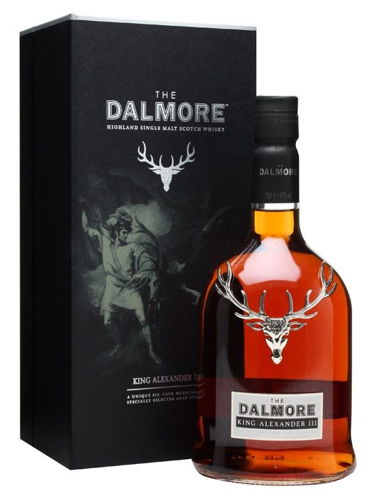 Had this wisky in Scotland - absolutely amazing! Dalmore King Alexander III : Buy Online - The Whisky Exchange - To make this Dalmore King Alexander III, Master Distiller Richard Paterson has selected a range of differently-aged malts matured in a mixure of French wine casks, Madeira drums, Sherry butts, Mars...