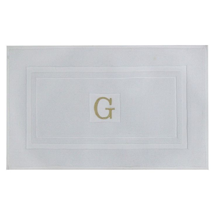 Bath Mat Monogram