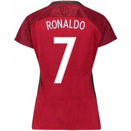 Maillot Portugal Femme RONALDO  2016/2017  Officiel EURO 2016 Domicile. Flocages Personnalisés Disponibles.