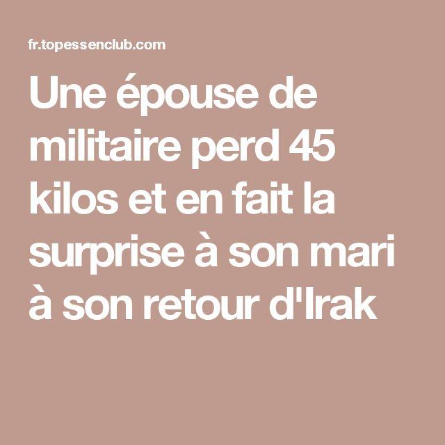 Une épouse de militaire perd 45 kilos et en fait la surprise à son mari à son retour d'Irak